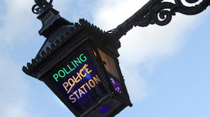 Polling Station Lamp Post