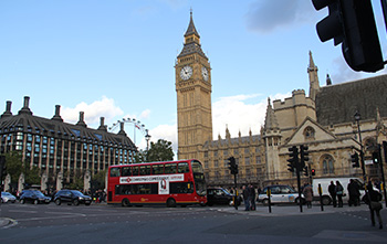 Parliament London Bus
