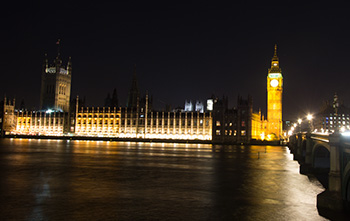 parliament across river thames