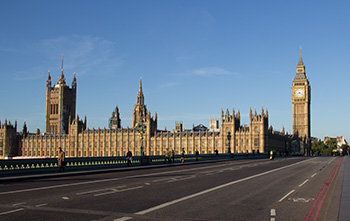 parliament from Westminster bridge
