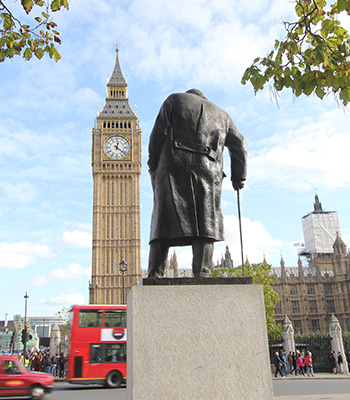 Sir Winston Churchill statue parliament square