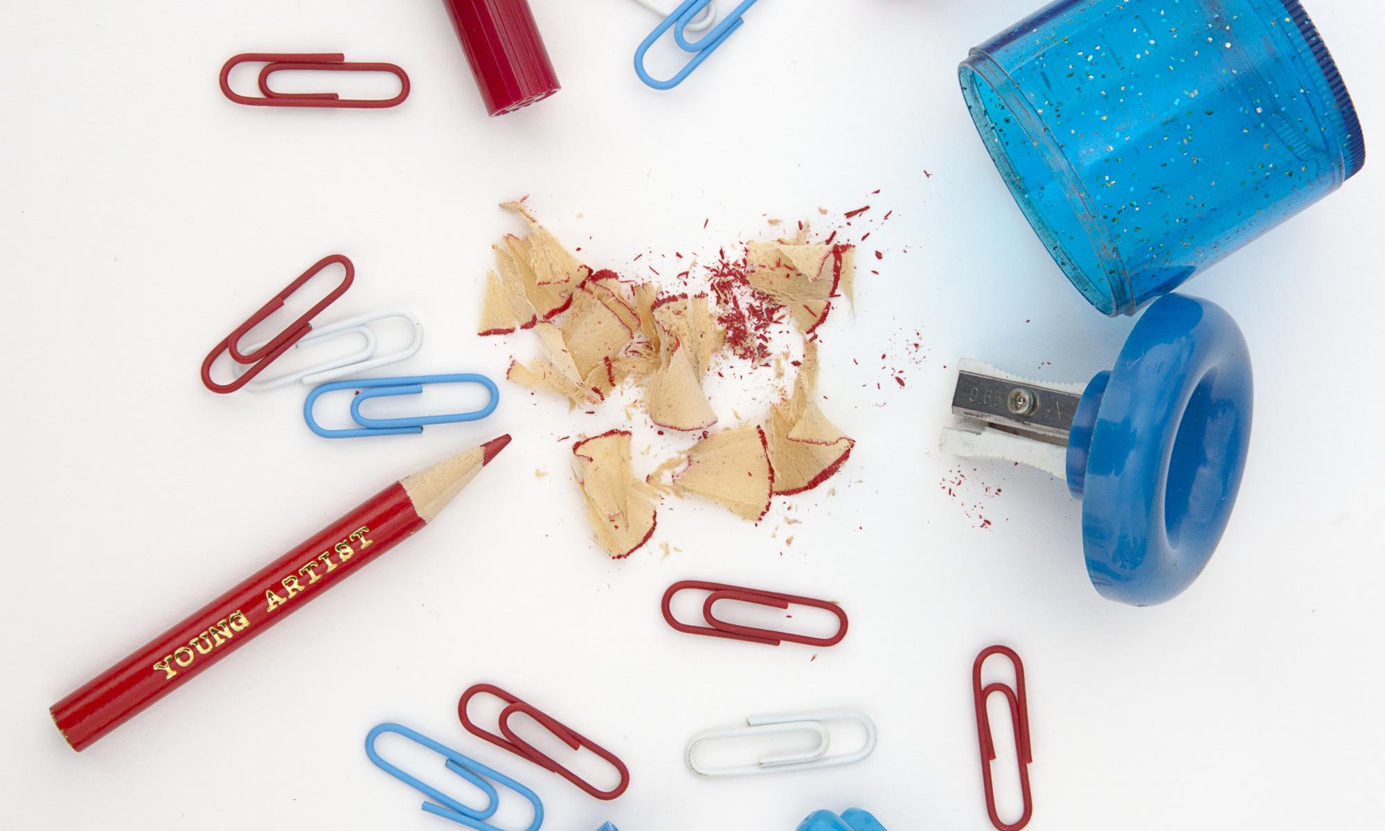 pens pencils paperclips