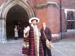 Laura Adkins meeting Henry VIII